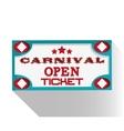 Banner ticket of carnival design vector image