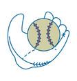 baseball glove sport vector image