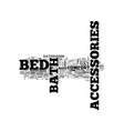 bed and bath accessories text word cloud concept vector image vector image