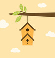 birdhouse on branch vector image