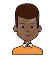 black young man avatar character vector image