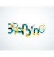 Branding font word concept vector image vector image