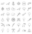 bug icons set outline style vector image vector image