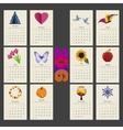 Calendar 2015 year design template vector image vector image