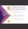 certificate or diploma design template 5 vector image vector image