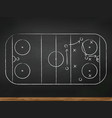 chalkboard with hockey game tactic vector image vector image