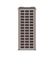 city high-rise building front view in flat style vector image vector image