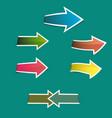 colorful arrows sticker vector image vector image