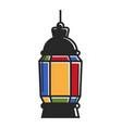 colorful vivid lantern vector image vector image