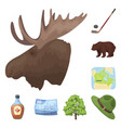 country canada cartoon icons in set collection for vector image vector image