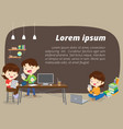 e-learning concept background vector image