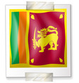 flag of srilanka on paper vector image vector image