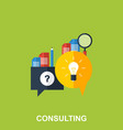 flat design concept for business consulting vector image vector image