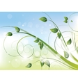 Floral spring background with swirls and flowers vector image vector image