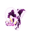 flower orchid with spots purple and white vector image vector image