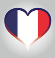 french flag with its respective colors vector image
