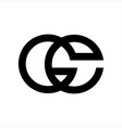 ge gc gce initials geometric company logo vector image vector image