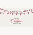 glowing lights for christmas xmas card design vector image vector image