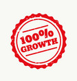 growth stamp in red vector image