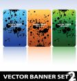 grungy banners vector image vector image