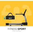 Gym equipment concept Treadmill icon vector image vector image