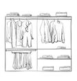 Hand drawn wardrobe sketch Clothes vector image vector image