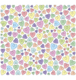 hearts on a white background vector image vector image