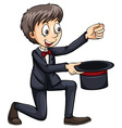Magician with a hat vector image