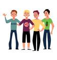Male friendship concept of boys men friends vector image