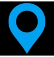 Map Marker flat blue color icon vector image vector image