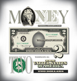 money 2 Two Fade vector image vector image