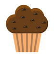 muffin flat icon food and drink sweet sign vector image vector image