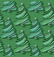 new year trees seamless pattern green christmas vector image