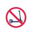 no kick scooter stop sign vector image vector image