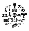 occasion icons set simple style vector image vector image