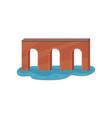 old brick arch bridge construction for vector image vector image