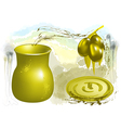 olive and oil vector image vector image