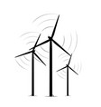 onshore wind turbine towers renewable energy farm vector image