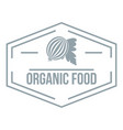 organic food logo simple gray style vector image vector image