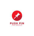 push pin icon design template vector image
