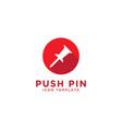 Push pin icon design template