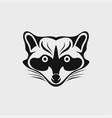 raccoon icon logo vector image vector image