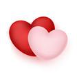 realistic hearts vector image vector image