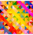 retro pattern geometric shapes colorful mosaic vector image