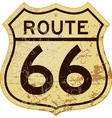 Rusty Route 66 vector image