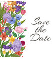 save date wedding invitation card with garden vector image vector image