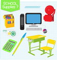 school supplies7 vector image vector image