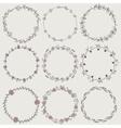 set nine hand-draw laurel wreaths vector image vector image