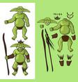 set of goblins v1 goblin shaman vector image vector image