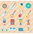 Set of musical stickers vector image
